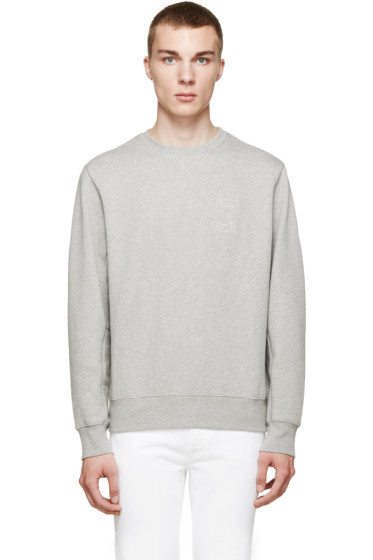 Acne Studios - Heather Grey Corben Logo Sweatshirt