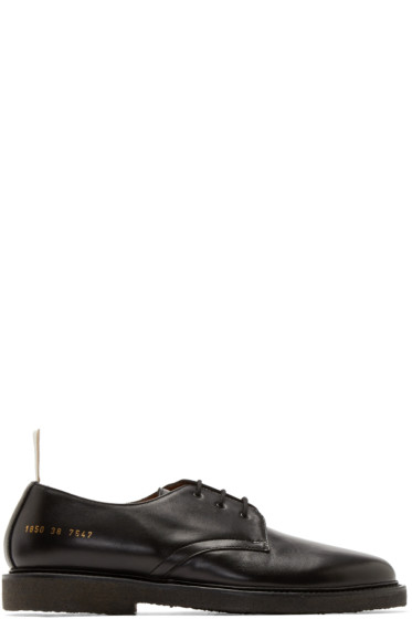 Common Projects - Black Leather Cadet Derbys