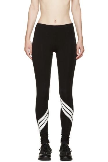 Y-3 - Black & White Multistripe Leggings