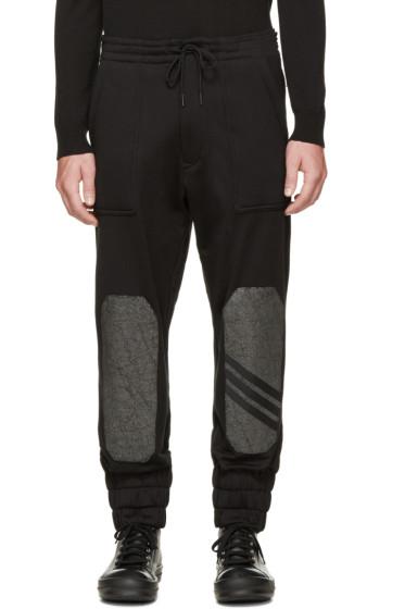Y-3 - Black Sherpa Lounge Pants