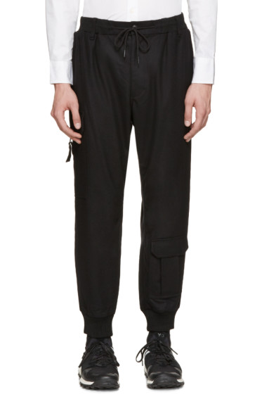 Y-3 - Black Chute Cargo Pants