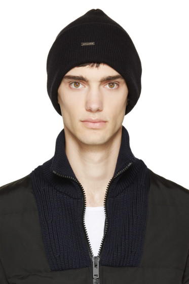 Dsquared2 - Black Slouchy Wool Beanie