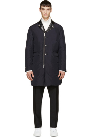 Dsquared2 - Navy & Black Taffeta Puff Kiodo Down Coat