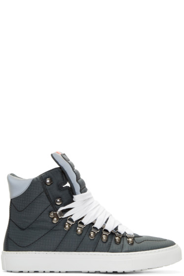 Dsquared2 - Black Technical High-Top Alfredo Sneakers