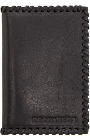 Dsquared2 - Black Leather Stitch Card Holder