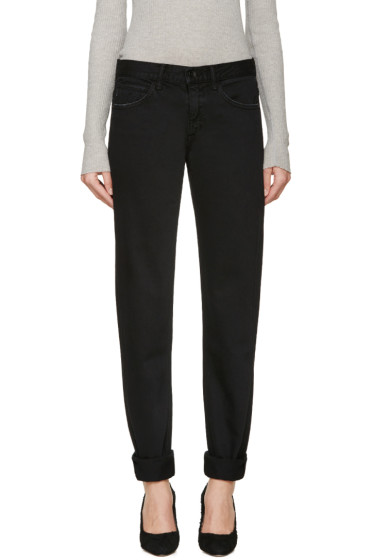 Helmut Lang - Black Relaxed Tapered Jeans