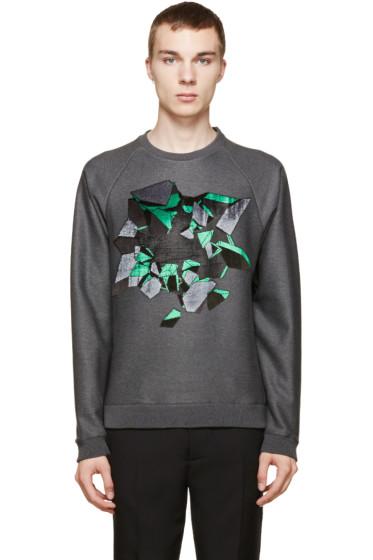 Christopher Kane - Grey Embroidered Wallbreak Sweatshirt