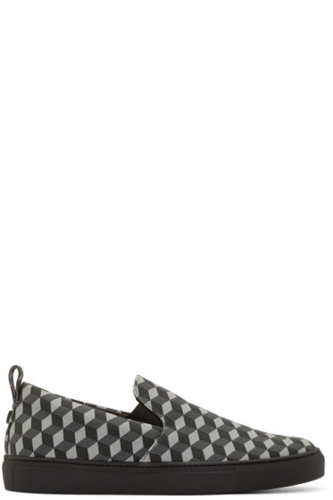 Christopher Kane - Grey Cube Canvas Sneakers