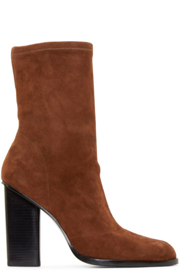 Alexander Wang - Camel Stretch Suede Gia Boots