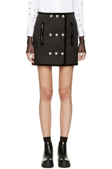 Alexander Wang - Black Ribbed Trapunto Miniskirt
