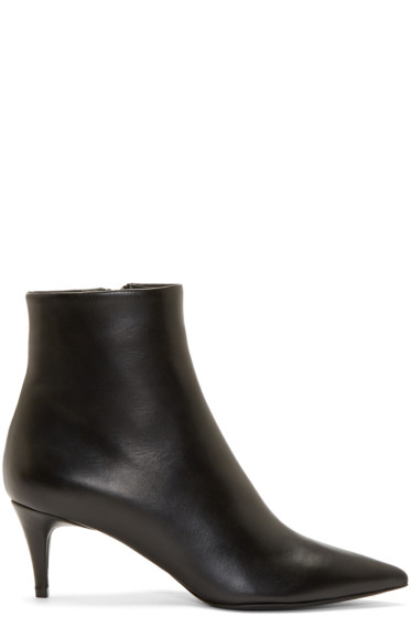 Alexander Wang - Black Leather Tara Boots