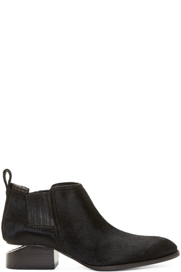 Alexander Wang - Black Calf-Hair Kori Ankle Boots