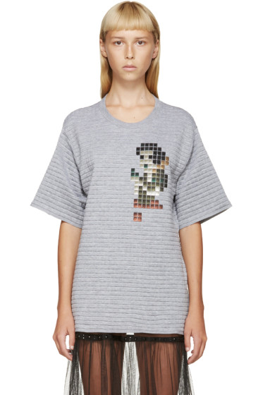 Marc Jacobs - Grey Quilted Snow White Sweater