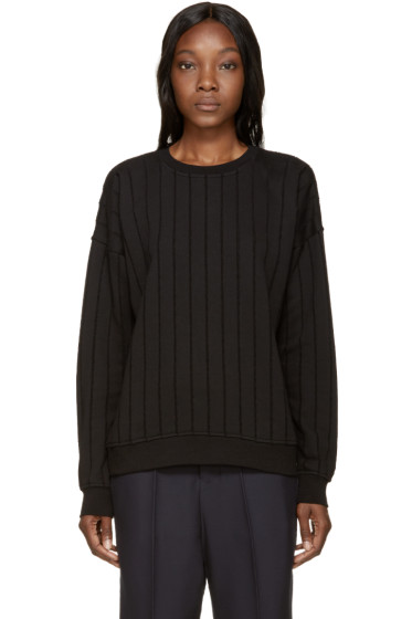 T by Alexander Wang - Black French Terry Burnout Sweatshirt