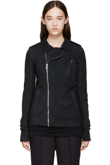 Rick Owens - Dark Blue Stooges Jacket