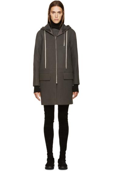 Rick Owens - Grey Wool New Combo Coat