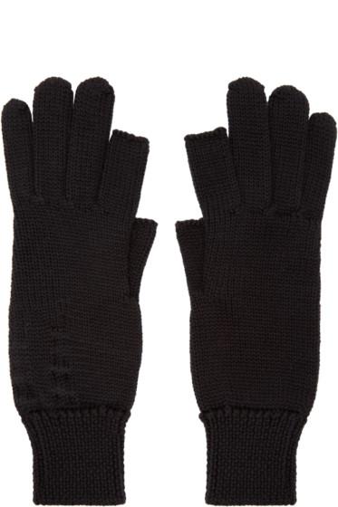 Rick Owens - Black Fingertip Gloves