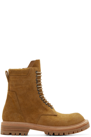Rick Owens - Yellow Suede Goodyear Flex Boots