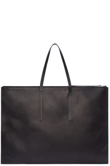 Rick Owens - Black Leather Portfolio Bag
