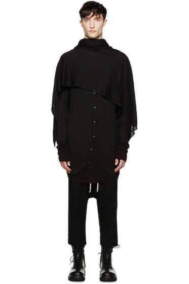 Rick Owens - Black Wool Blanket Scarf