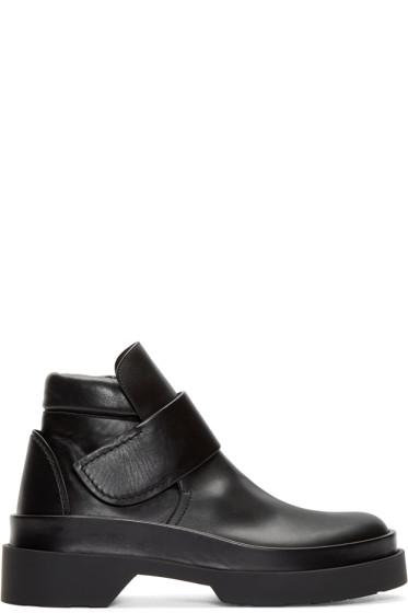 Jil Sander - Black Leather Panelled Runway Boots