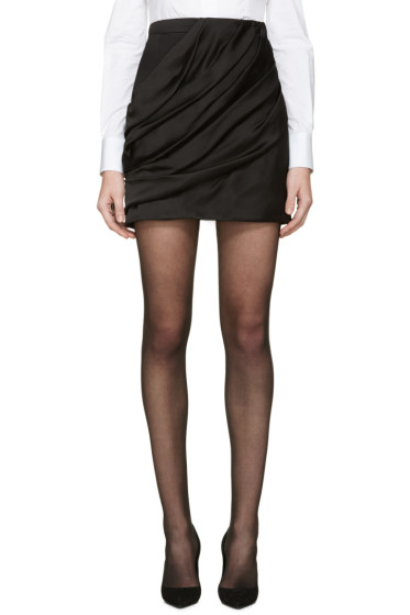 Balmain - Black Draped Skirt