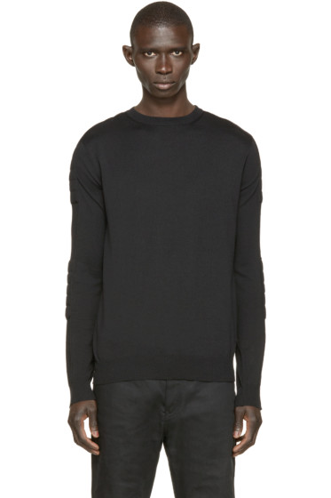 Balmain - Black Biker Sweater