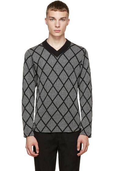 Junya Watanabe - Black & White Diamond Sweater