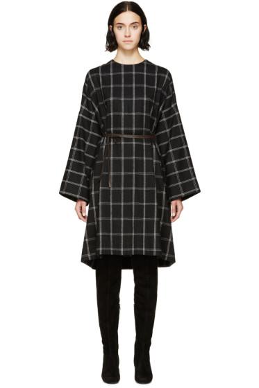 Lanvin - Black Wool Check Dress