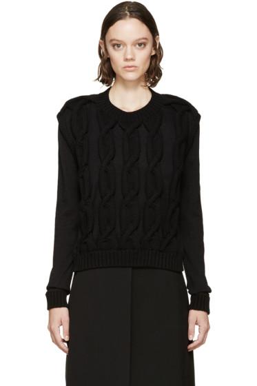 Lanvin - Black Knit Appliqué Sweater