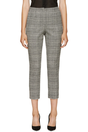 Lanvin - Black & White Houndstooth Trousers