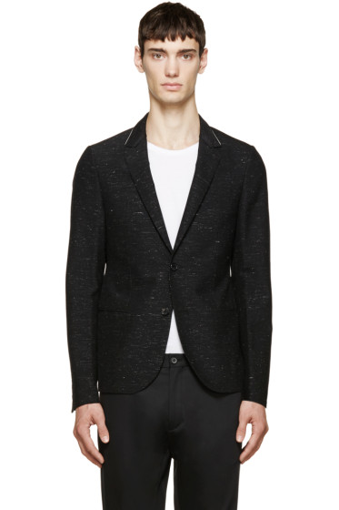 Lanvin - Black Speckled Suit Blazer