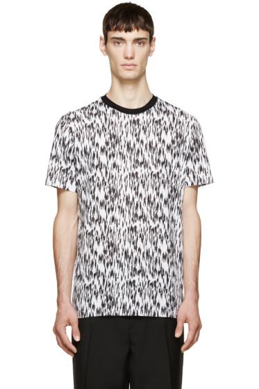 Lanvin - Black & White Feather Print T-Shirt