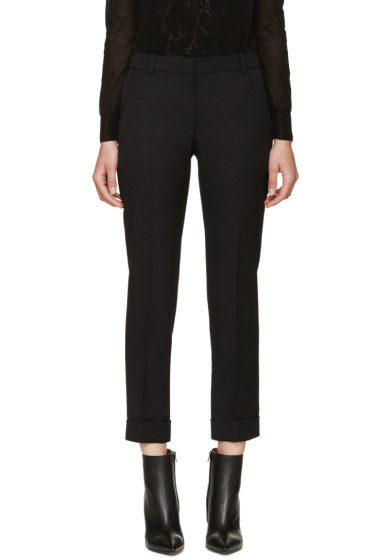 Alexander McQueen - Black Rolled Cuff Trousers