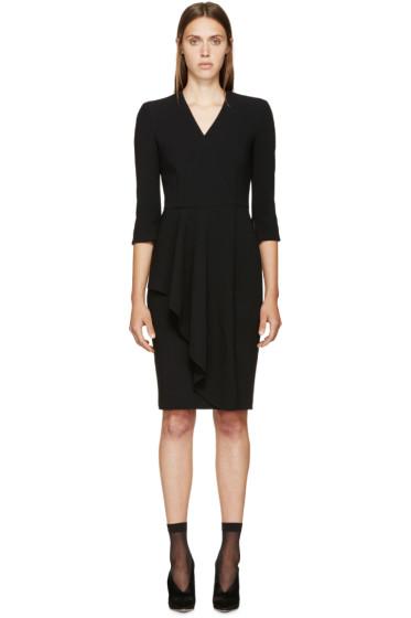 Alexander McQueen - Black Wool Asymmetric Skirt Dress