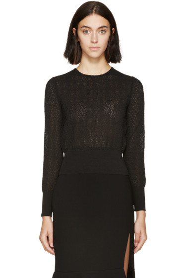 Alexander McQueen - Black Circle Lace Sweater
