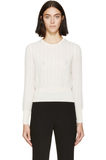 Alexander McQueen - Cream Circle Lace Sweater