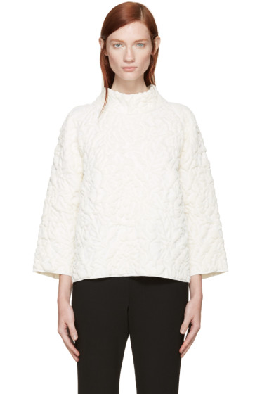 Alexander McQueen - Ivory Quilted Sweater