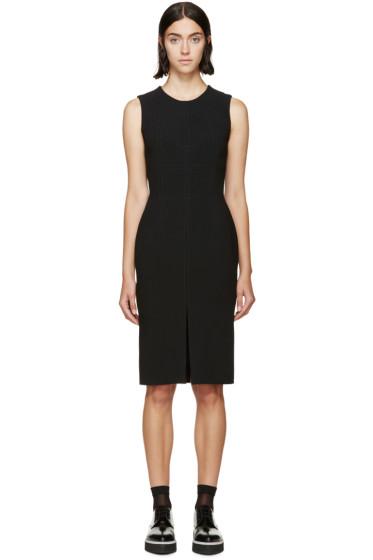 Alexander McQueen - Black Wool Paneled Dress