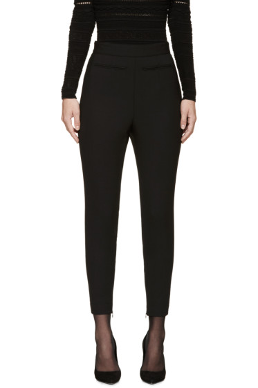 Alexander McQueen - Black High-Waisted Wool Trousers