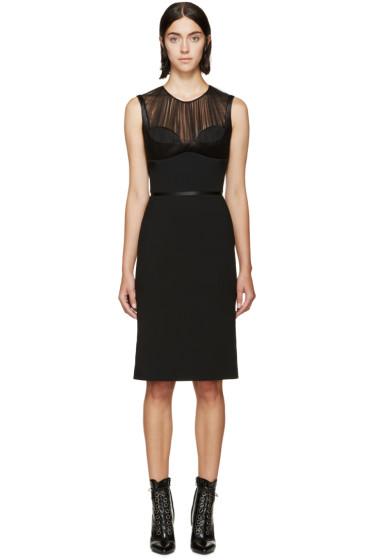 Alexander McQueen - Black Satin & Tulle Bustier Dress
