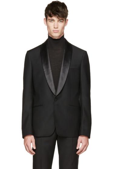 Alexander McQueen - Black Satin Collar Tuxedo Jacket