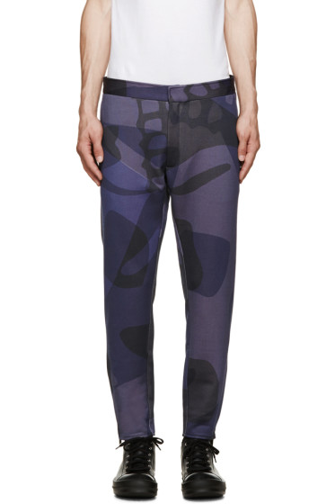 Alexander McQueen - Blue Camo Skull Lounge Trousers