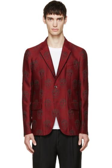 Alexander McQueen - Red Skull Jacquard Blazer
