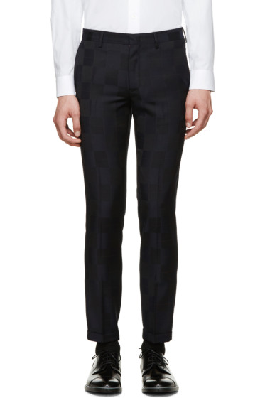 Paul Smith - Navy Check Trousers
