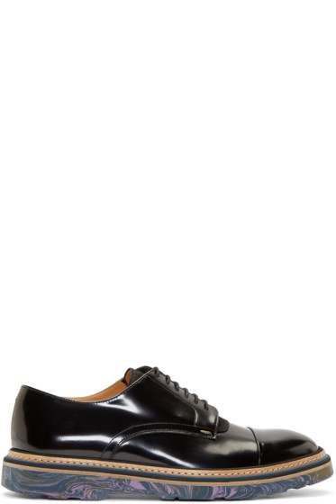 Paul Smith - Black Leather Multicolor Sole Derbys