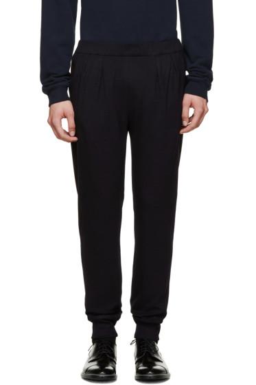 Paul Smith - Navy Wool & Silk Trousers