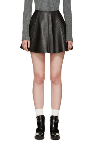 Opening Ceremony - Black Panelled Leather Dakota Skirt