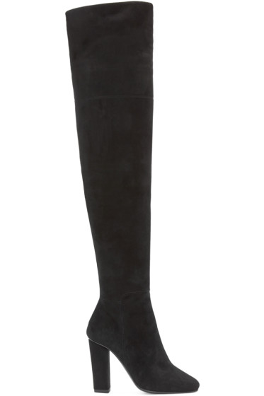 Giuseppe Zanotti - Black Suede Over-the-Knee Boots