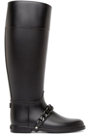 Givenchy - Black Chain Eva Rain Boots